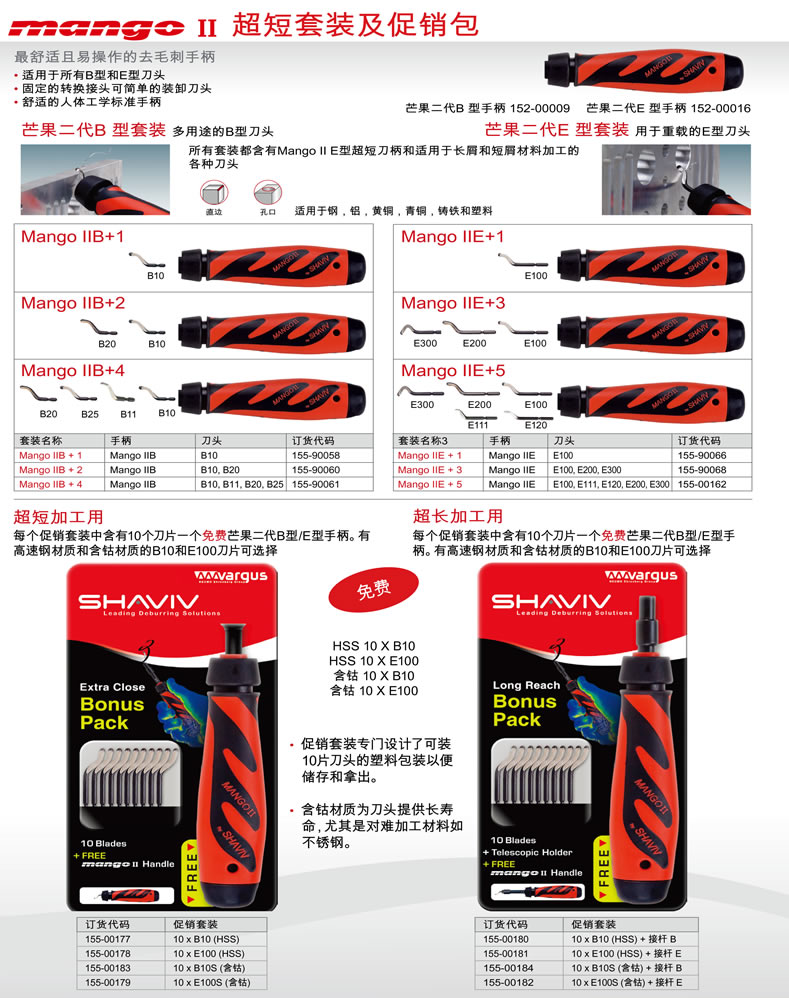 SHAVIV 90064 Mango II Set D with Mango II Handle